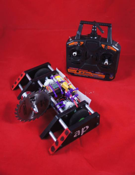 The completed Atomic Puppy robot!